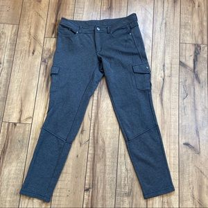 Athleta sz 10 cropped jogger gray cargo pants🧘‍♀️